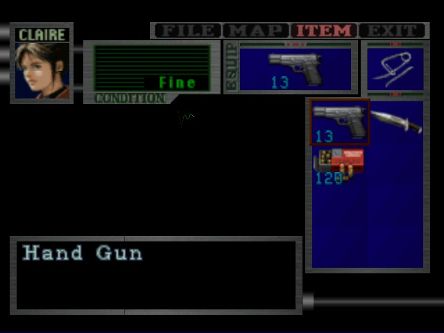 Resident Evil 2 - Menus Pause Menu - Um ok - User Screenshot
