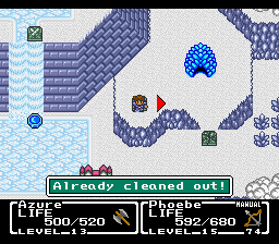Final Fantasy - Mystic Quest - Location  - Dungeon looks like frozen Lavos. - User Screenshot