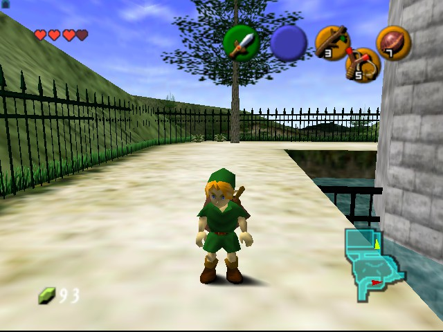 The Legend of Zelda - Ocarina of Time - Level  - Standing there looking cool - User Screenshot