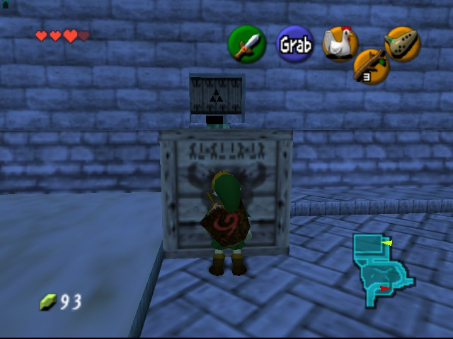 The Legend of Zelda - Ocarina of Time - Level  - Box...WHAT DOES THIS SAY?!?!?! - User Screenshot