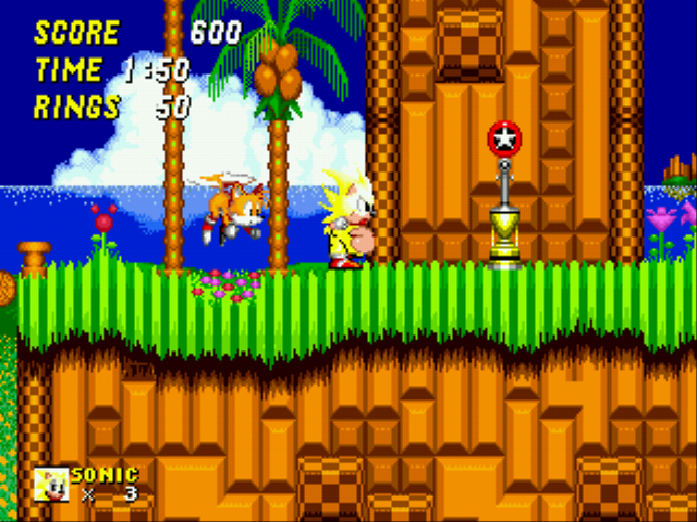 Play Sonic 2 Xl Rom Hack Game Online Sega Genesis Free Gen Vizzed