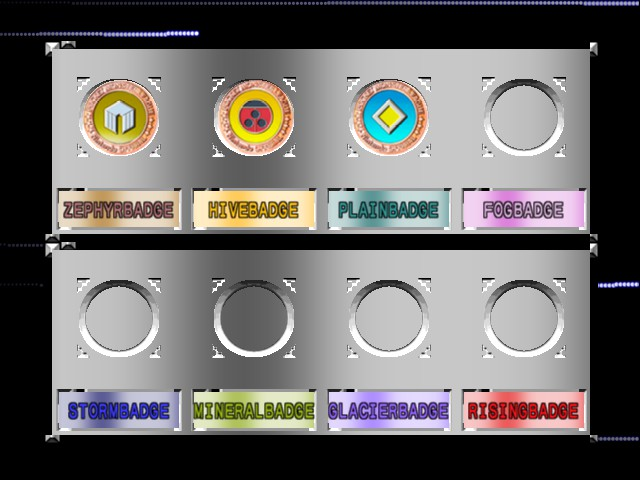 Pokemon Stadium 2 - My badges - User Screenshot