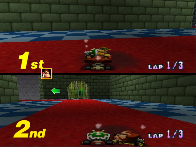 Mario Kart 64 - Misc Bowser Castle 2again -  - User Screenshot