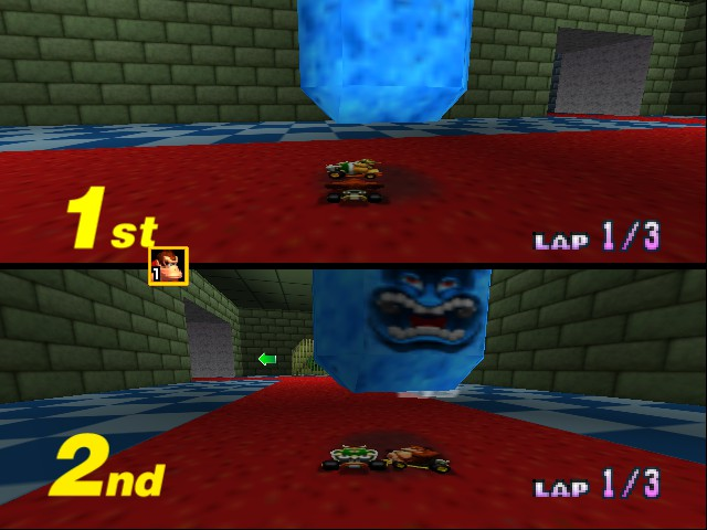 Mario Kart 64 - Misc bowser castle1 - again flattened - User Screenshot