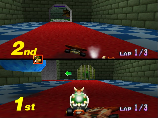 Mario Kart 64 - Misc Bowser Castle6 -  - User Screenshot