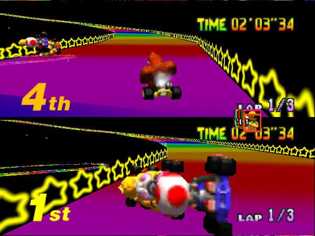 Mario Kart 64 - Misc Rainbow Road - Ahhh - User Screenshot