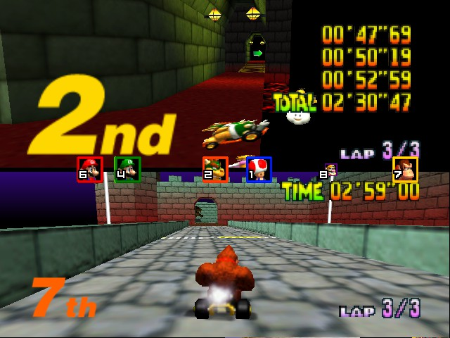Mario Kart 64 - Misc Bowser Castle - o my  - User Screenshot
