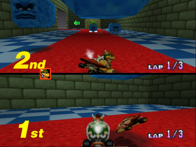 Mario Kart 64 - Misc Bowser Castle - DK:Who are you looking at!? - User Screenshot