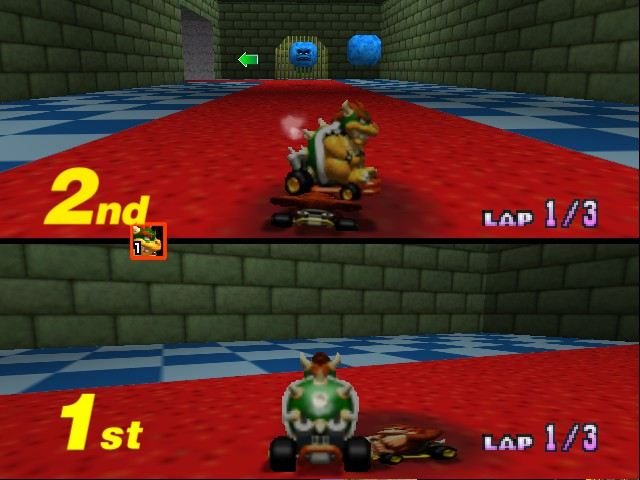 Mario Kart 64 - Misc Bowser Castle - Oof - User Screenshot