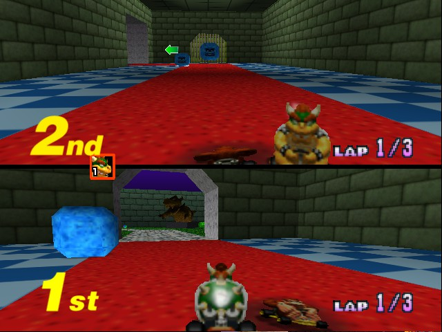 Mario Kart 64 - Misc Bowser Castle - Squashed DK - User Screenshot