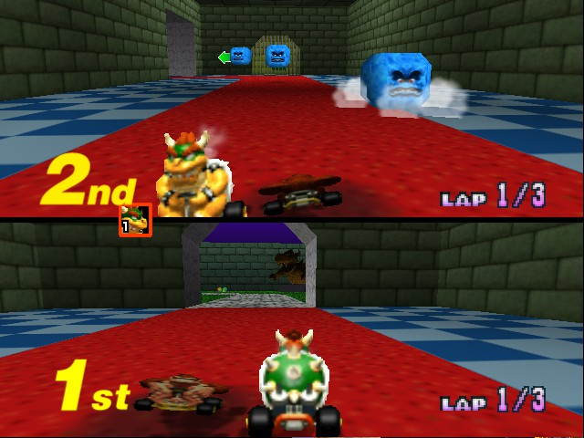 Mario Kart 64 - Misc bowser castle 5 - ..................... - User Screenshot