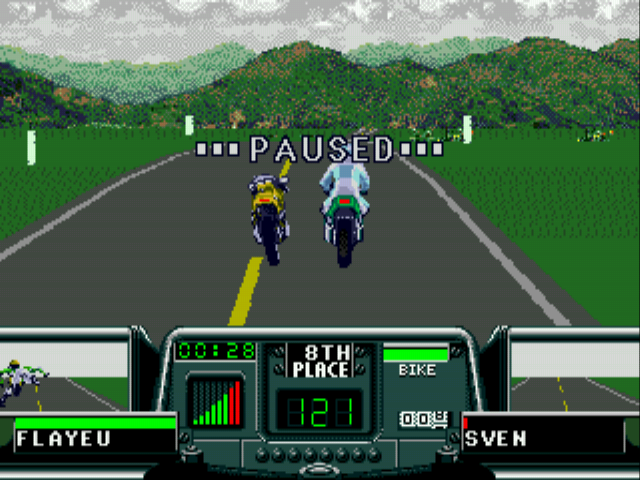 Road Rash 3 - ahahha no one is driving - User Screenshot