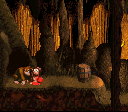 Donkey Kong Country - Level Reptile Rumble - Some one looks puzzled  - User Screenshot