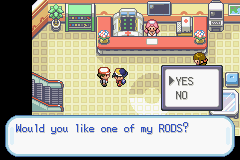 Pokemon Shiny Gold - Location  - old rod guy - User Screenshot