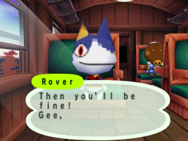 Animal Forest (English beta 2-12-10) - Are you okay, Rover...? - User Screenshot