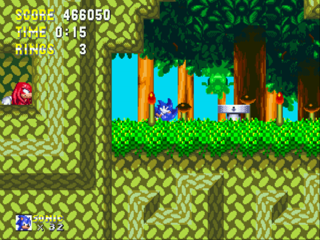 Sonic 3 Complete - knuckles will NEVER find me here... - User Screenshot