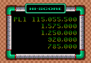 Sonic Spinball - 115,055,500 just barely beat my old score - User Screenshot