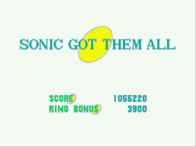 Sonic the Hedgehog - got all 6 emeralds - User Screenshot
