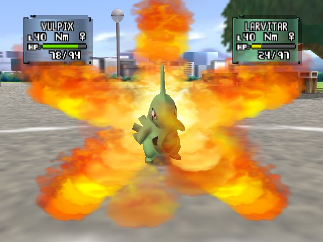 Pokemon Stadium 2 - Firing Larvitar - User Screenshot