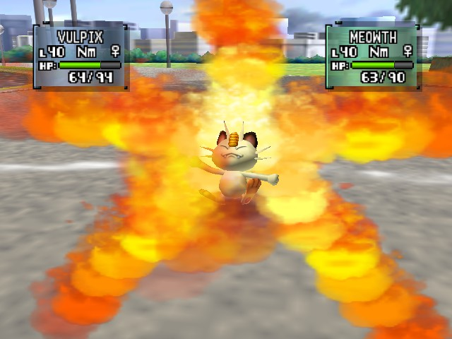 Pokemon Stadium 2 - Flamin Meowth - User Screenshot