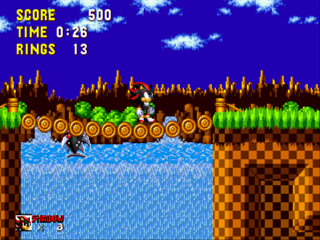 Shadow the Hedgehog - Pirahna eating bridge - User Screenshot