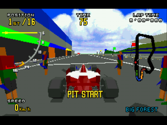 Virtua Racing Deluxe - Pit crew - User Screenshot