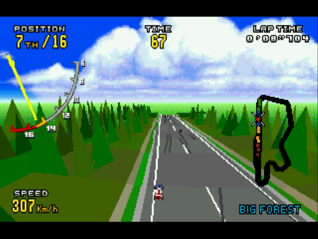 Virtua Racing Deluxe - birds eye view - User Screenshot