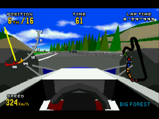 Virtua Racing Deluxe - first person camera view - User Screenshot