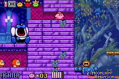 Kirby & the Amazing Mirror - Battle  - the mini boss is crying - User Screenshot