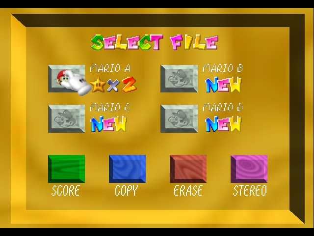 Kaizo Mario 64 - Game Select  - how i got 2 stars for free? - User Screenshot