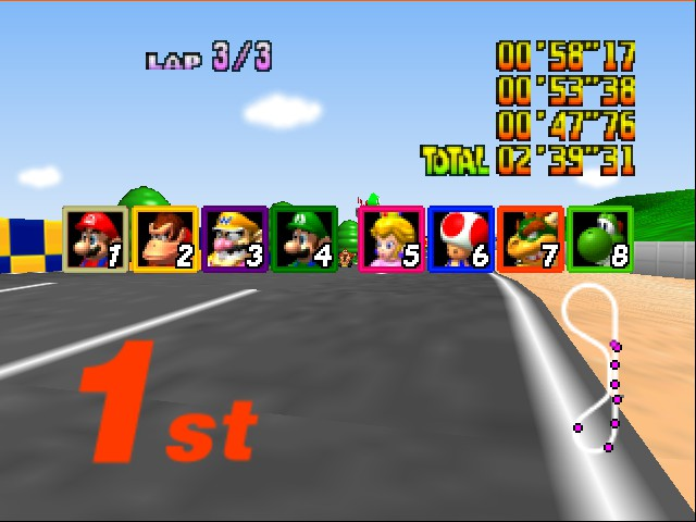 Mario Kart 64 - Cut-Scene  - i am first for the 1st time - User Screenshot