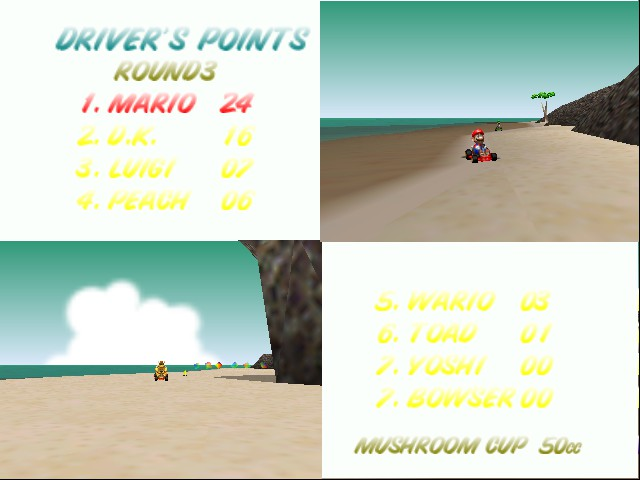 Mario Kart 64 - Cut-Scene  - my score - User Screenshot