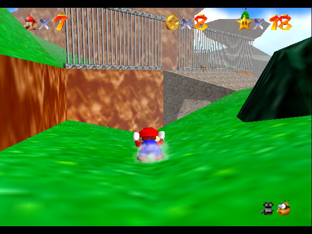 Super Mario 64 - Level Bob-omb Battlefield - i can slide while ducking - User Screenshot
