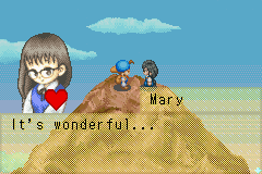 Harvest Moon - Friends of Mineral Town - Cut-Scene  - Moon Viewing Festival with Mary - User Screenshot