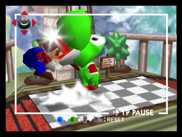 Super Smash Bros. - Battle  - giant baby yoshi - User Screenshot