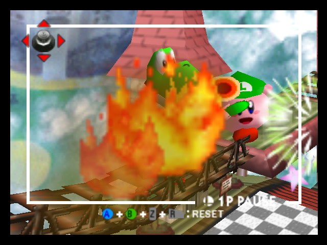 Super Smash Bros. - Battle  - yoshi is catching on fire! - User Screenshot