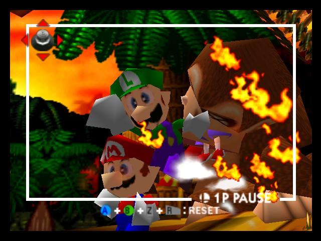 Super Smash Bros. - Battle  - luigis got fire from his nose - User Screenshot