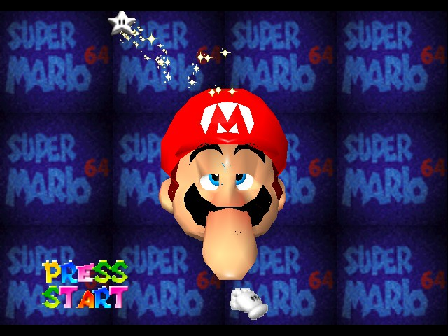 Super Mario 64 - mario? more like squidward - User Screenshot
