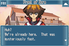 Yu-Gi-Oh! GX - Duel Academy - Cut-Scene  - Duel Academy to the Dorms in a game. Duh. - User Screenshot