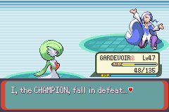 Pokemon Emerald - Battle  - took many items with my underdeveloped team - User Screenshot