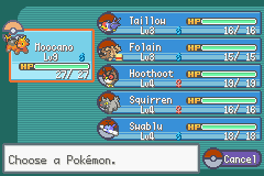 Pokemon Sienna (beta 3.1) - my team on first pach of grass - User Screenshot