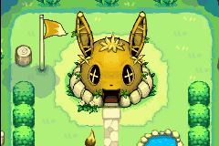 Pokemon Mystery Dungeon - Red Rescue Team - What the eevee house looks like when upgraded - User Screenshot