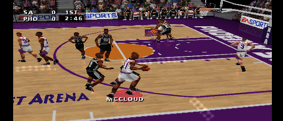NBA Live '99 - Suns vs. Spurs 2