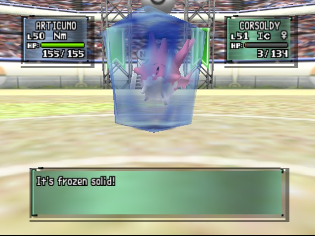 Pokemon Stadium 2 - Misc state - Frozen Corsola.. - User Screenshot