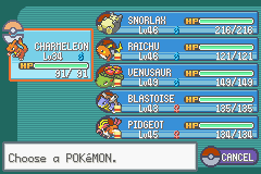 Pokemon Ash Gray (beta 3.61) - My team at the end of the game :3 - User Screenshot
