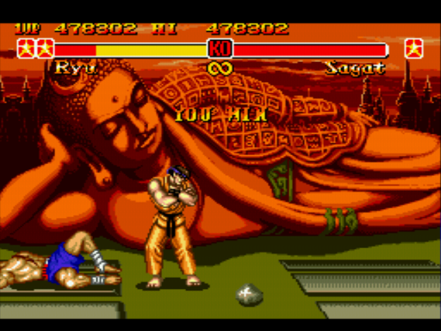 Super Street Fighter II - Misc Battle Picture - How the Ryu-Sagat rivalry all started - User Screenshot