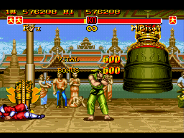 Super Street Fighter II - Misc Battle Picture - *mimics M. Bison* YES!!! - User Screenshot