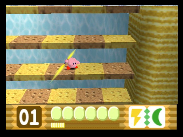 Kirby 64 - The Crystal Shards - Misc Powers - Jedi Kirby - User Screenshot