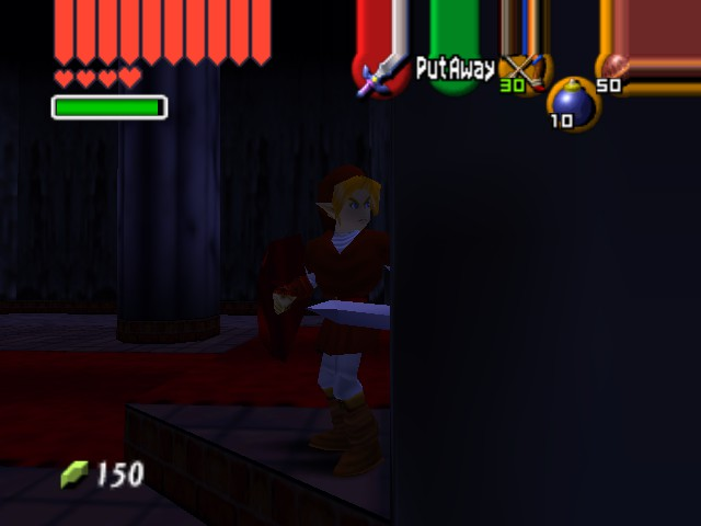 "The Legend of Zelda - Ocarina of Time (Debug Edition) - ""This is WAY darker than on the brochure."" - User Screenshot"
