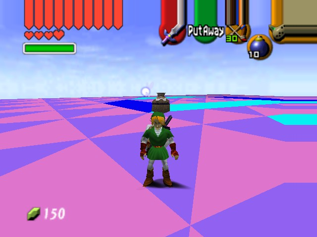"The Legend of Zelda - Ocarina of Time (Debug Edition) - Misc  - ""Look ma, no hands!"" - User Screenshot"